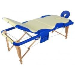Массажный стол складной деревянный JF-AY01 3-х секционный с волной (МСТ-103Л)